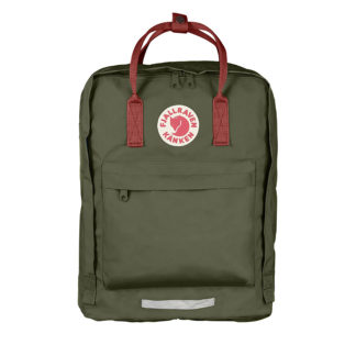 Рюкзак Kanken Big Forest Green-Ox Red спереди